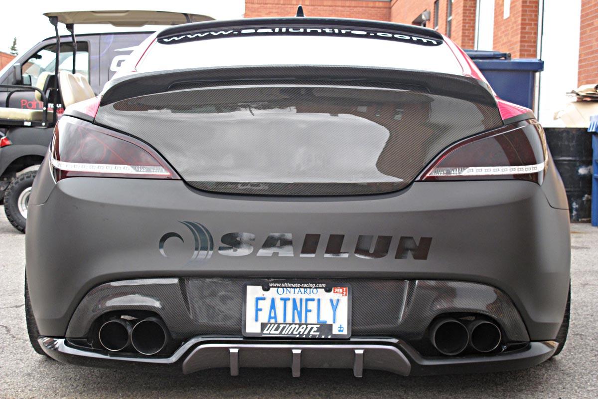 Hyundai Genesis Custom Car Wrap Graphiti