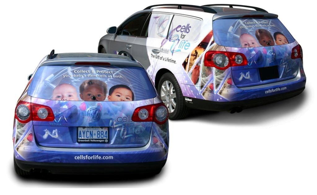 Car advertising vehicle wrap
